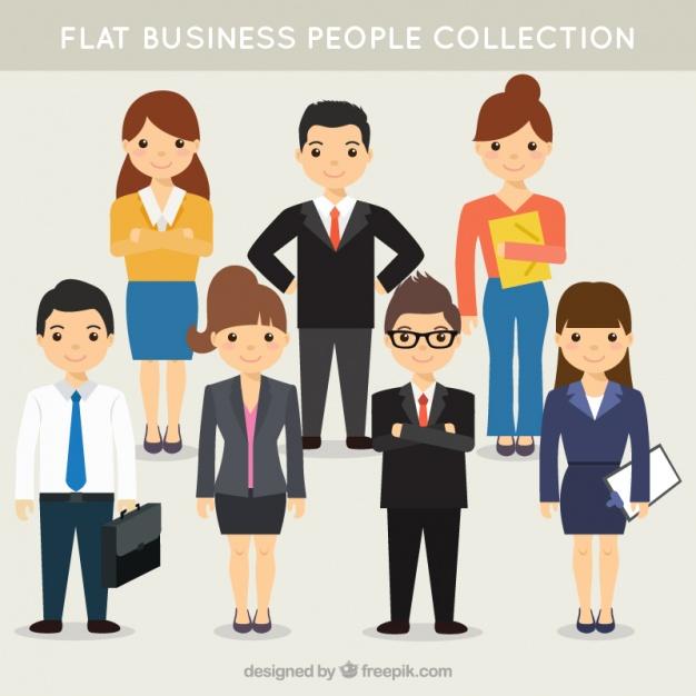 Company Team Pack In Flat Design