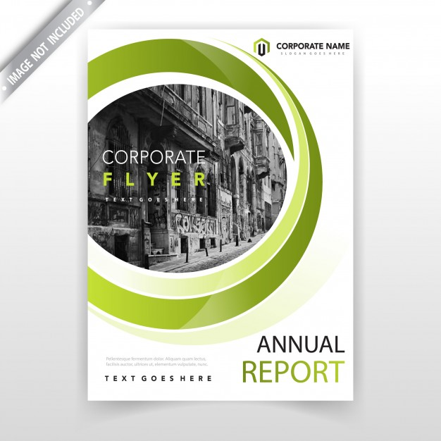 Green Wavy Business Leaflet Cover