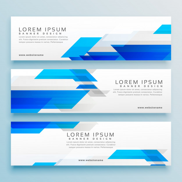 Three Business Style Header Banner Sesign Set