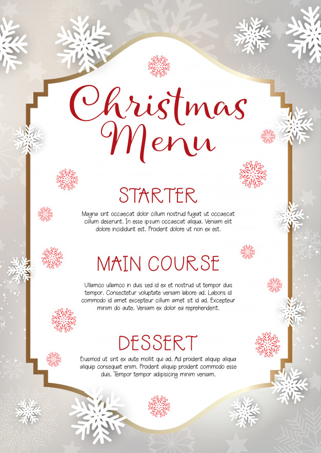 Christmas Menu Design Background