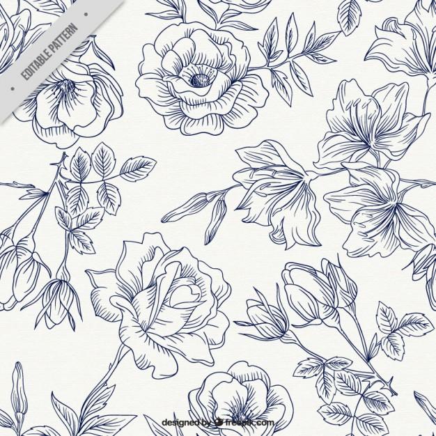 Spring Roses Pattern