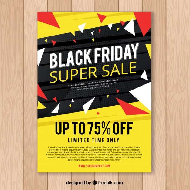 Black Friday Poster In Black And Yellow
