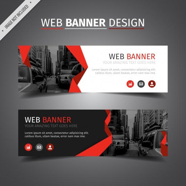 Red Web Banner Design