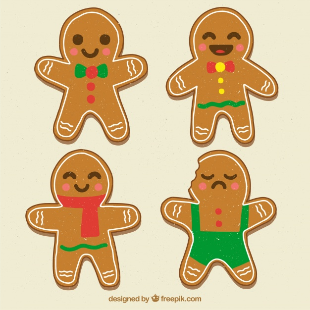 Set Of Cute Gingerbread Cookies