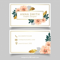 Elegant Corporate Card With Flowers