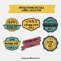 Hand Drawn Vintage Boxing Day Sale Badge