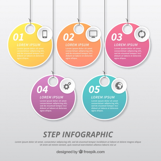 Infographic Template With Label Design