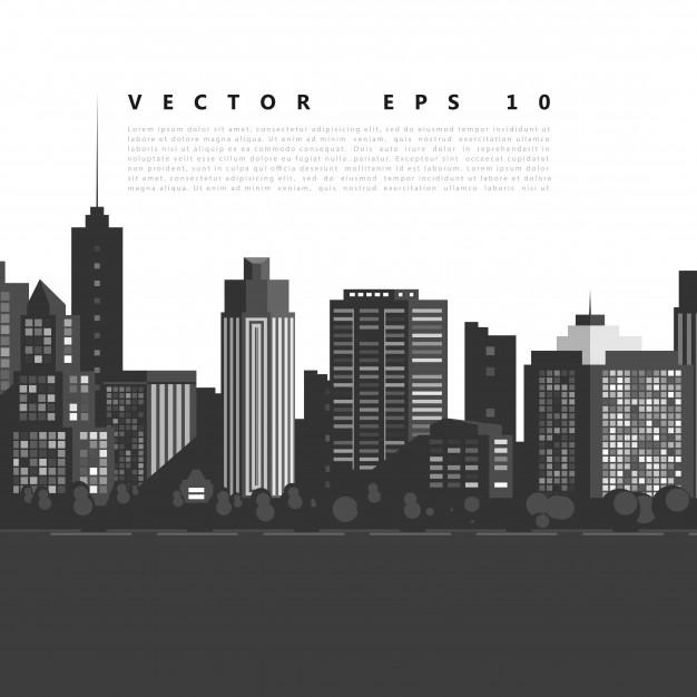 Vector Modern City