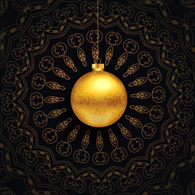 Luxury Christmas Greeting With Mandala Design