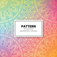 Ethnic Floral Seamless Pattern With Mandalas