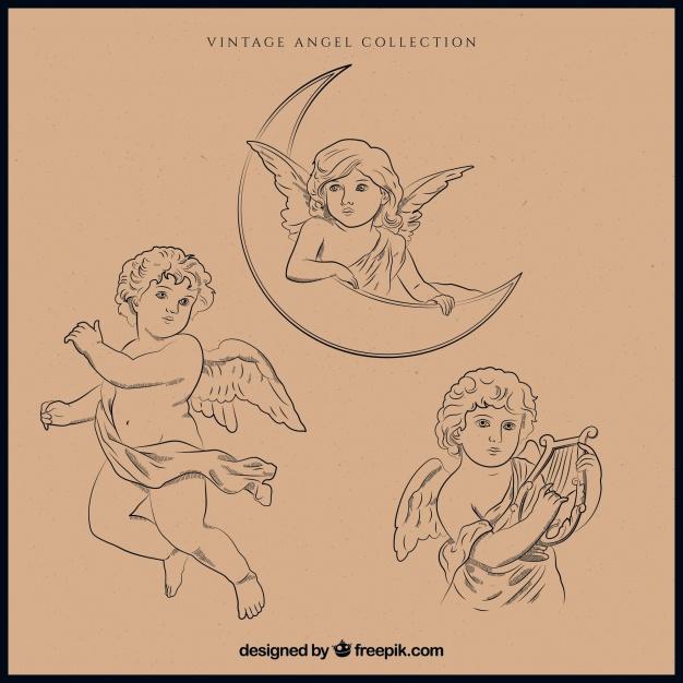 Pack Of Christmas Angel Illustrations
