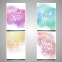 Thank You Cards Painted With Watercolors