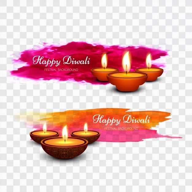 Colorful Paint Diwali Design
