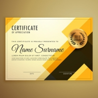 Golden Abstract Diploma