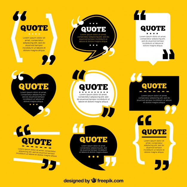 Collection Of Vintage Style Quote Template