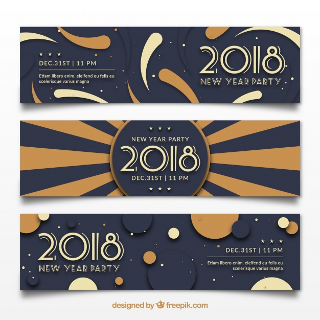 2018 New Year Party Banners