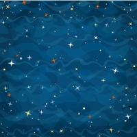Cartoon Background With Stars