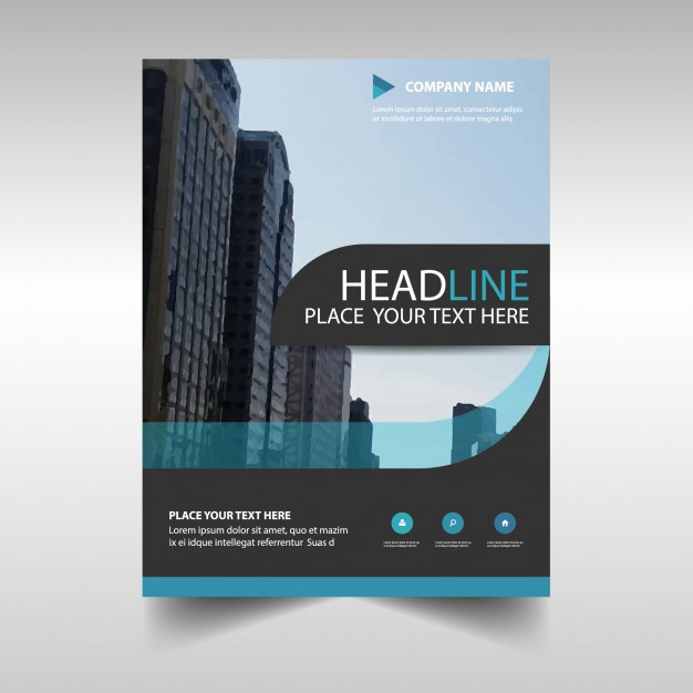 Light Blue Abstract Corporate Annual Report Template Free