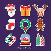 Set Of Decorative Christmas Elements
