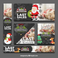 CutePack Of Christmas Sale Banners