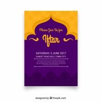 Purple And Yellow Iftar