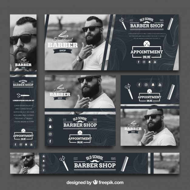 Vintage Collection Of Barbershop Banner