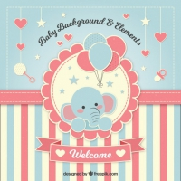 Lovely Baby Shower Background