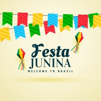 Beautiful Festa Junina Design With Garlands