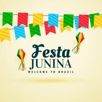 Beautiful Festa Junina Design With Garlands
