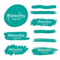 Watercolor Brush Strokes Design
