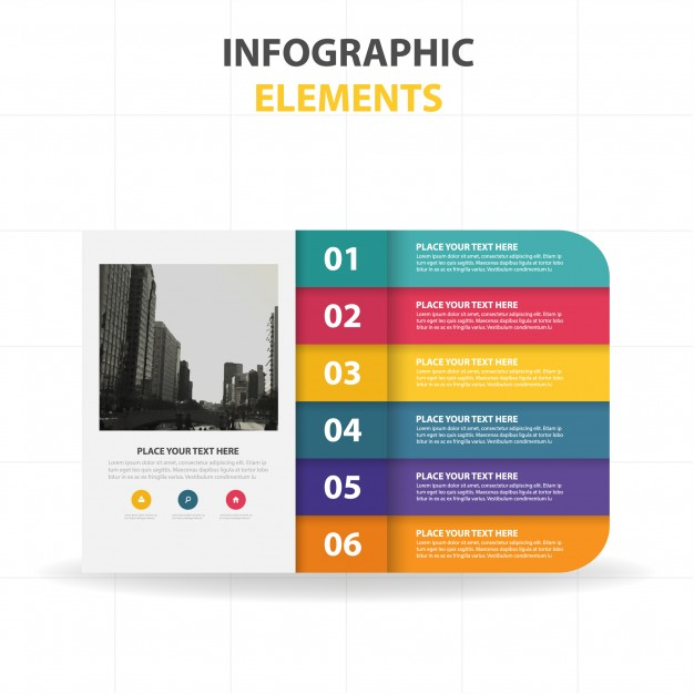 Colorful Infographic Template With Steps