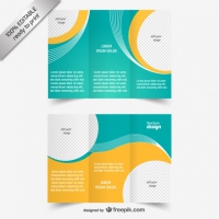 Blue And Yellow Brochure Template
