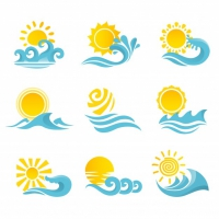 Waves Flowing Water Sea Ocean Icons