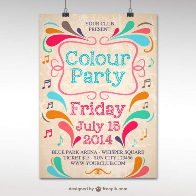 Colour Party Poster