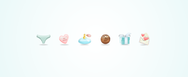 Valentine's Day Icon Set