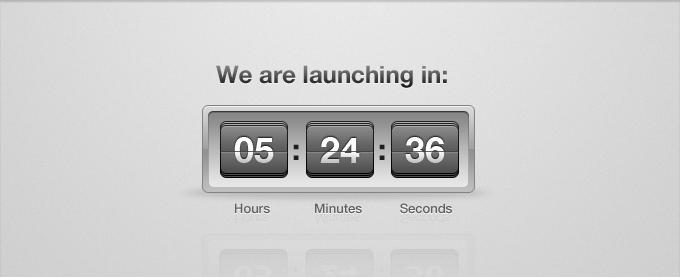 Launch Countdown Flip Clock PSD