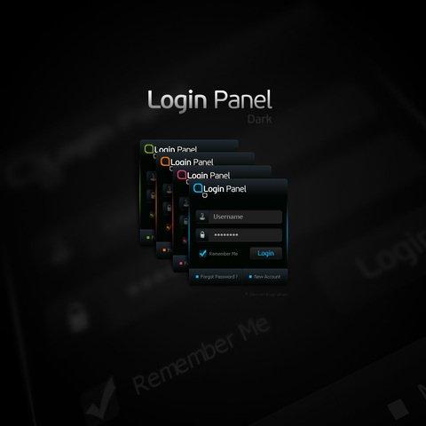 Free PSD Login Panel