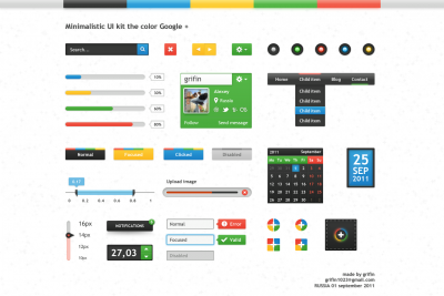 Minimalistic UI kit the color Google
