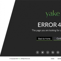 Yake 404 Error Page UI