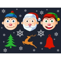 Free Christmas Character Heads PSD