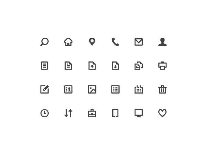 Free Glyph Icons