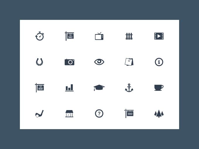 Freebie - 20 Vector Simple Icons