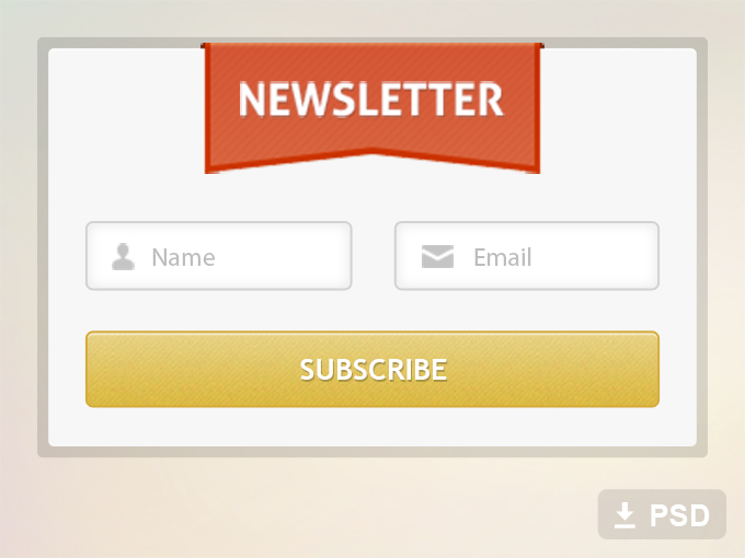 Free Newsletter Form Psd