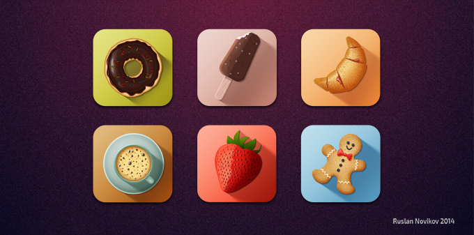 Free Tasty Icons (PSD)