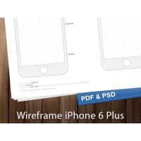 iPhone 6 Wireframes Ready To Printed. Free PDF and PSD