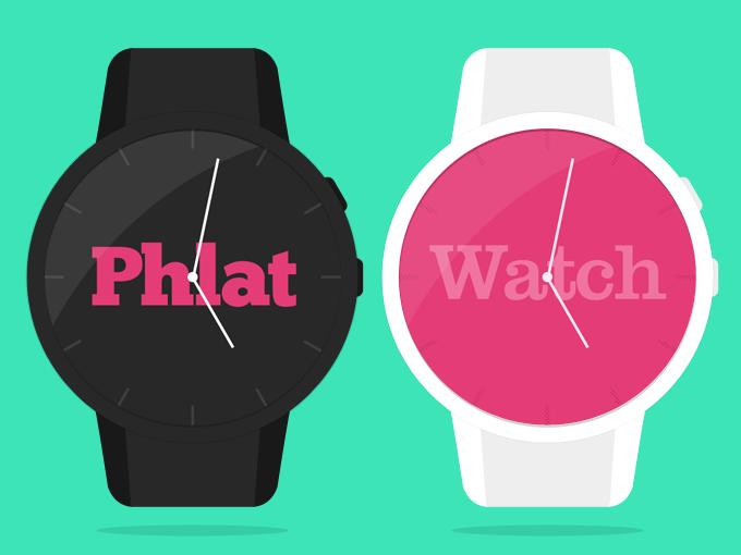 Phlat Watch PSD Template