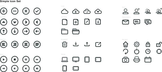 Rounded Icon Set