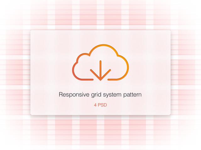 4 Responsive Grid System PSD