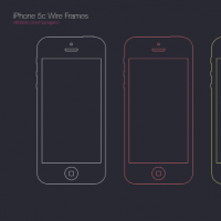 iPhone 5c Wire Frames