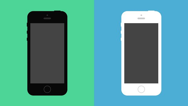 Flat iPhone 5S Psd Vector Mockup